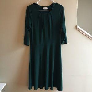 Leota Green Fit and Flare Dress Size L